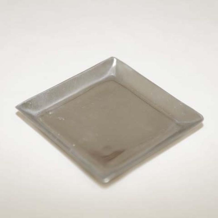 Plat bougie carr - Plat aluminium jetable ...